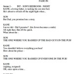 "Script for ""When Kane was Able"""