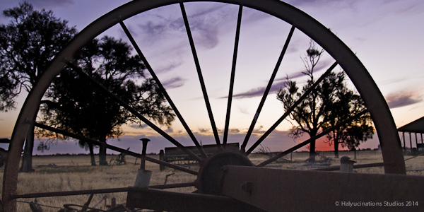Looking through the wheel oftime