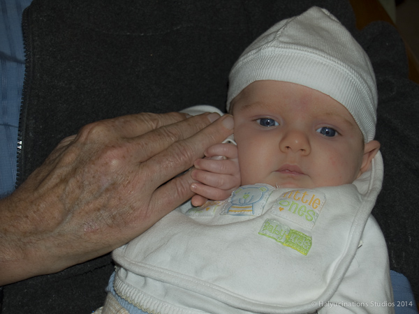 Hands across two generations